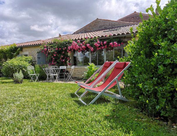 LOGIS DE L'ÉPINIÈRE - Borderies<br>Le jardin de Borderies